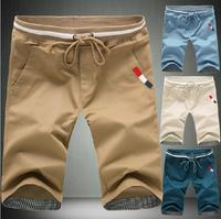 summer slim knee-length pants male casual board short casual pants male breeched