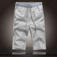 Summer linen  male plus size plus size linen pants fluid knee-length loose pants casual trousers thin