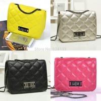 8 colors C Vintage Quilted plaid chain Messenger Diagonal shoulder bag Portable mini handbag yy87