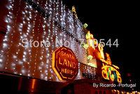 Free DHL,White,10MX4M / 33ft*13ft,1280 Led Curtain light String Christmas Wedding 110V 220V,UK/EU/AU/US Plug