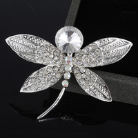 2014 vintage accessories Fashion Women Silver Alloy Dragonfly Shape Brooch pin T-1 Cheap jewelry wholesale