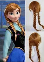 Free shipping Frozen elsa wig princess anna wig 100% korean heat resistant synthetic wig/cosplay Animation wig