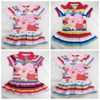 Peppa pig clothing,vestidos de menina,new 2014,bebe,pepa pig dress,girl party dress,baby wear,kids girl clothes