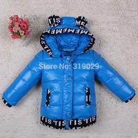 2014 Baby Down coat 90% Duck down Thickening Casual Down jacket Girls Outerwear 100-130cm Children Warm wear