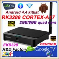 HOT!!! New! XBMC 4K H.265 Bluetooth 2.4Ghz/5Ghz WIFI EKB328 rk3288 quad core google android 4.4 tv box