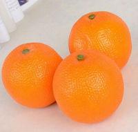 Free shipping 15pcs/lot artificial fruit fake vegetable orange photograph teaching mould plastic crafts