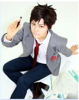 Anime new Gekkan Shojo Nozaki Kun cosplay costume high school uniform poster hero wear costume set