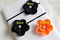 Felt flower headband ,pearl Flower on Skinny Elastic Headband  Fit Newborn - Adults 200pcs