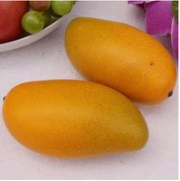 High artificial heavy weight fruit mango 5pcs/lot shop market cabinet decorations photograph teaching mould
