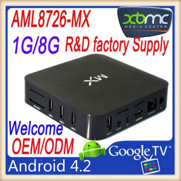 MX tv High Performance Aml 8726 MX Android 4.2 Android TV Box(China (Mainland))