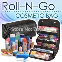 48pcs/lot Fedex Free Fashion Utility Roll-N-Go Cosmetic Bag Women Makeup Hanging Toiletries Storage Travel Kit Jewelry Organizer