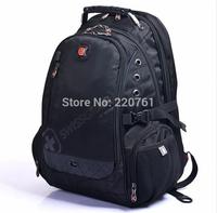 DHL - 2014 SwissGear Black High quality travel business backpack - Shoulders Bag Outdoor Travel Backpack