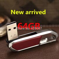 100% Genuine Wholesale Hot USB Flash Drive 64GB Cute Metal Waterproof Pen drive 64gb 32GB USB 2.0 Flash Memory Stick