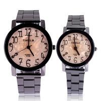 Round analog quartz wristwatch for lovers women men full steel watch couple brand TIMELE fashion casual design reloj free ship