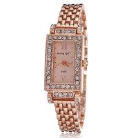 Free shipping luxury rose gold watch women rhinestone watches ladies fashion quartz wristwatch hours roman number hot sale