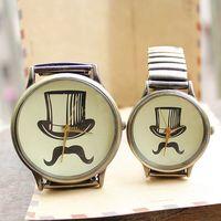 Gift watch lovers new arrival hot sale hat stylish fashion quartz big watches for women and men quartz antique dropship