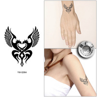 Free Shipping Waterproof Tattoo Stickers Wrist Length Personality Small Wings