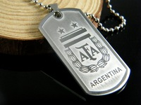 316L Stainless Steel 2014 Brasil World Cup (ARGENTINA) pendant titanium steel necklace pendant sterling silver jewelry
