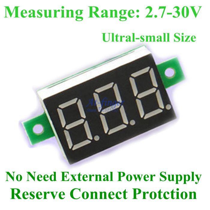 Вольтметр Brand new 5pcs/2.7/30v DC b0011/5 B0011-5 dc 4 5 30v 0 50a двойной красный светодиодный цифровой вольтметр амперметр напряжение питания amp es9p