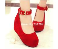 Free shipping hot!women pumps 2014 news sexy fashion women's Platform high heels Wedges Buckle shoes high heel shoes for women