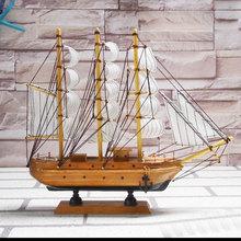 3D 15 cm Sailing Boat madeira Clipper Ship Model veleiro Toy decoração de madeira mão Crafted grátis frete e transporte da gota(China (Mainland))