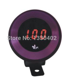 frete grátis 37mm metro digital de exibição, inteligente auto móveis medidor de temperatura do óleo speedmeter carro carro acessórios estilo tacômetro(China (Mainland))
