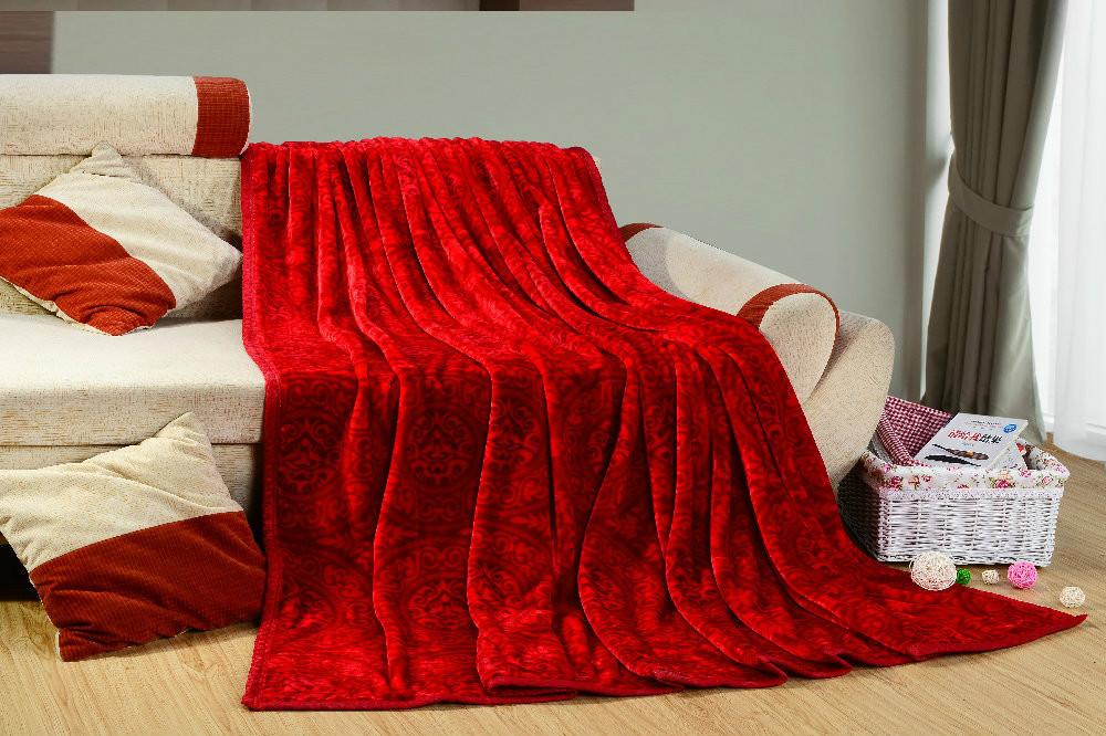 Nouveau tissu microfibre 2014 red coral couverture en molleton confortable pour cadeau de mariage décoration à la maison livraison gratuite 2014 bl-015 efb