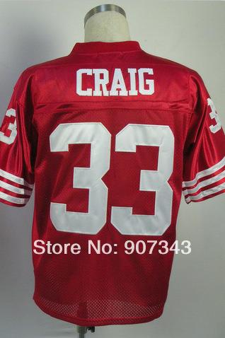 Free shipping Cheap American football Sports#33 Roger Craig Jersey,Throwback Football Jersey,Sport Jersey,(China (Mainland))