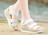 2014 women's summer wedges heels sandals female platform shoes Velcro 31 32 33 US size 10 sy-428