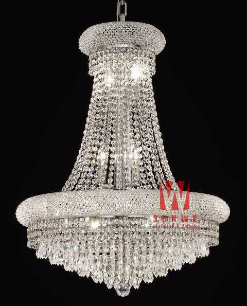 Simple chrome. lustre en cristal, pendentif en métal lustre luminaire, grand lustre luminaire, a9095,60cm w x 80cm h