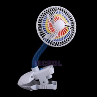 NI5L New Practical Mini Clip Fan USB Charge Small Baby Stroller Fan White