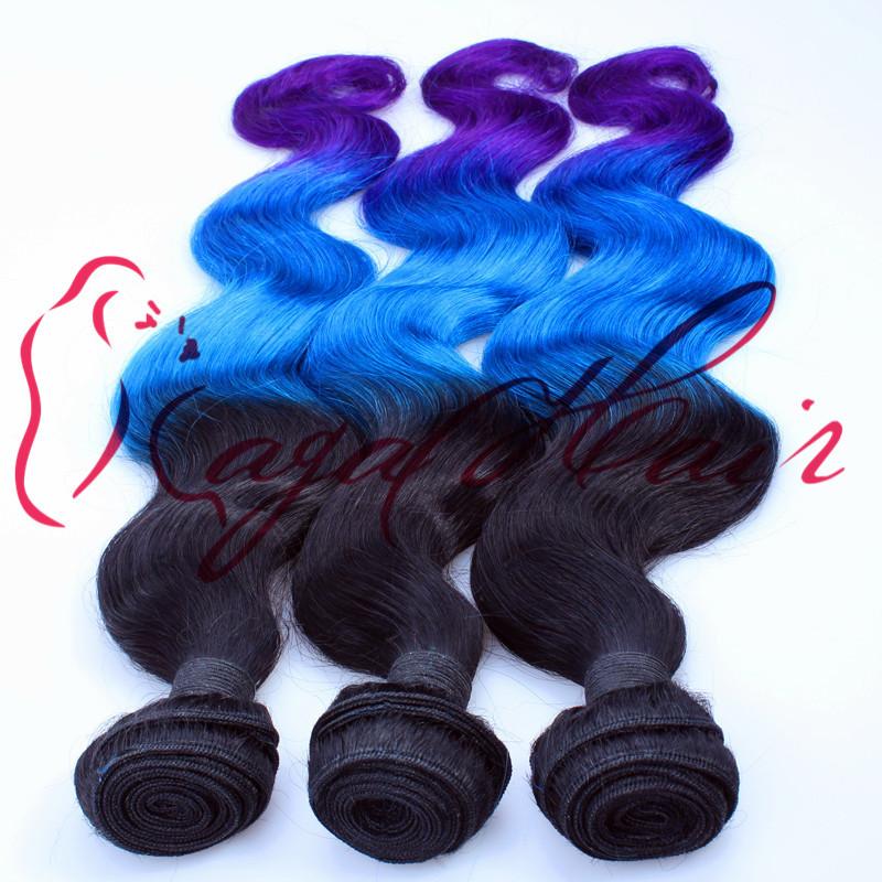 Queen Hair Products Brazilian Virgin Hair Ombre Bundles Body Wave 1B/