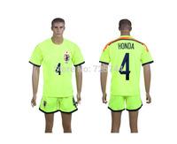#4 HONDA Japan Soccer Jersey 2014 World Cup Jerseys Home Japanese HONDA World Cup Jerseys+shorts 2014 Free Shipping