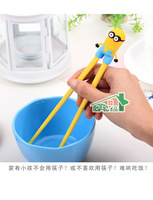 5pair/lot Kids Intelligent Training Chopsticks baby learning chopsticks early education Cartoon Little bear Style Chopsticks C01