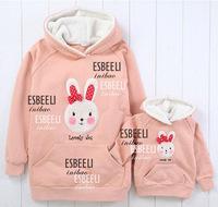 Retail autumn winter warm children hoodies girls outwear,00387