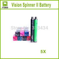 2014 Vision Spinner 2 Electronic Cigarette Battery 1600mah Voltage Battery 3.3V-4.8V Vision 2 for eGo Atomizer for E-cigarette