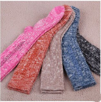 2014 Hot Design Korean Socks Diamond Bold Lines Middle Tube Cotton Socks Women 5 Colors
