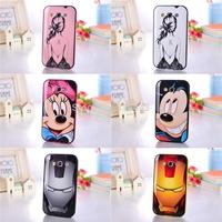 Free Shipping 1 PCS New Cute Cartoon Minnie Mickey Iron Man Hard Silicone Back Covers Case For Samsung Galaxy Win I8550 I8552