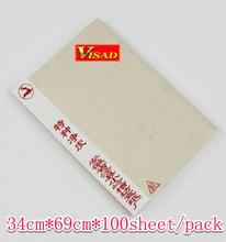 Grátis frete papel Xuan chinês 100 sheet / pack 34 * 69 cm papel de arroz chinês para caligrafia e pintura(China (Mainland))
