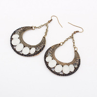 Vintage Jewelry New Designer Moon Style Crystal Drop Earrings Free Shipping ZC5P7