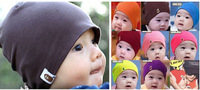 Hot Sale 2014 New Fashion Winter Baby Boys Girls Solid Color Elastic Hip-Hop Cap Beanie  22 Colors One Size #00M BM001