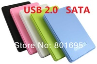 Just for you High quality USB 2.0 SATA ABS platic hard disk driver HDD case enclosure mobile disk box support 2000G