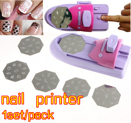 2014 new nail art printer,printer gel nails polish printing machine nail tools free shiping ,DIY nails printer with 6 patterns(China (Mainland))