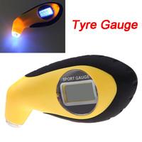 100PSI KPA BAR Digital LCD Air Pressure Tyre Car Tire Gauge High Accuracy Tester Tool with LED for Car Motor Bike
