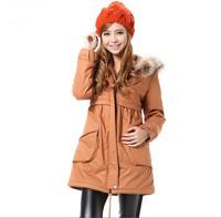 hot sale free shipping new arrival fashion winter  Raccoon fur hooded women parkas coats