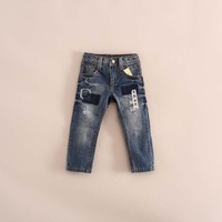 hot ale fashion children girl ripped jeans casual denim pants 2-7 years