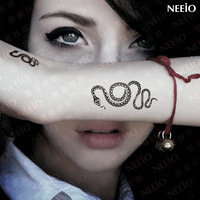 Free Shipping Neeio tattoo stickers personalized small hand wrist length tattoo stickers waterproof