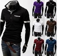 Free shipping!2014 summer New men's clothing brand men T-Shirts all-match casual fashion T Shirt Plus size:M-XXL