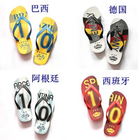 2014 Brazil the World Cup in the summer cool sandals flip-flops Han edition of leisure skid package mail that occupy the home