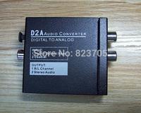 Mini D2A Optical Coax Coaxial Toslink Digital to Analog RCA L/R Audio Converter